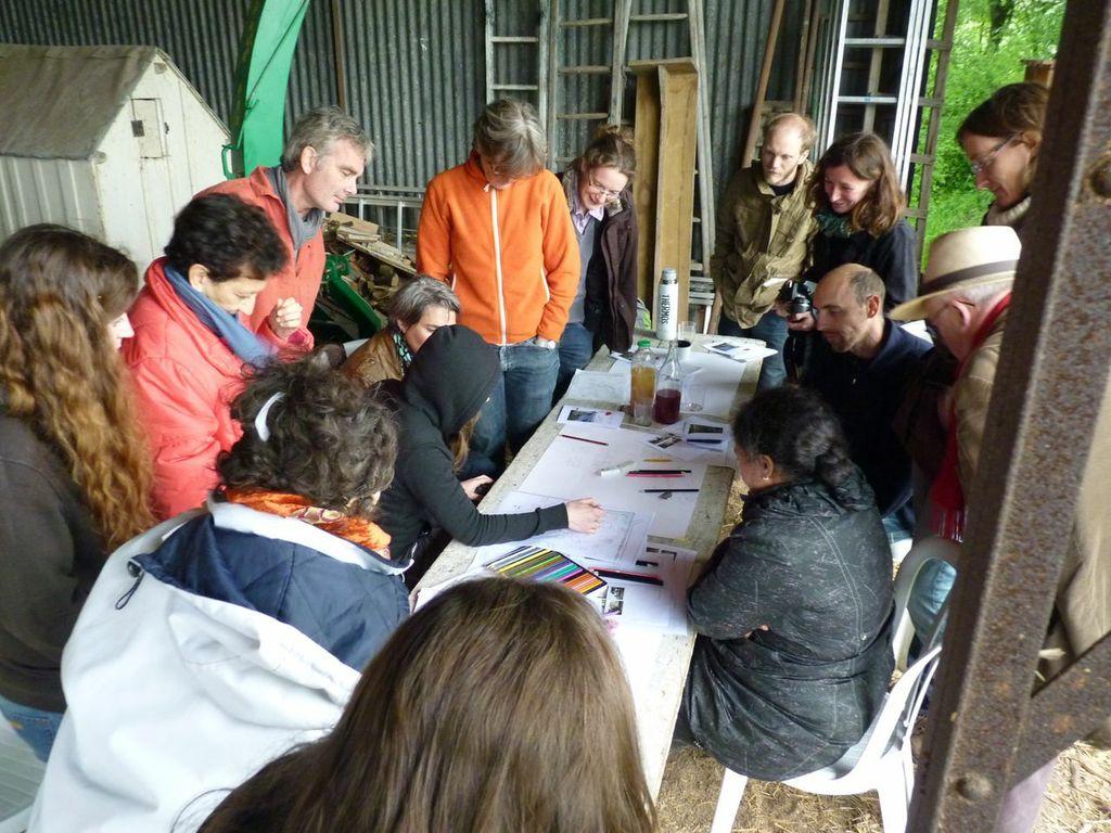 Atelier de co-production d'une analyse paysagère sur une exploitation agricole de l'agglomération Orléanaise
