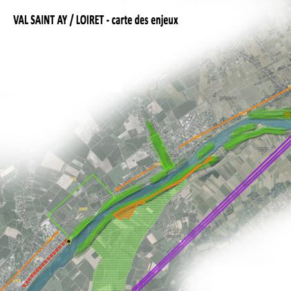 Covisibilités sur la Loire dans le Loiret