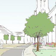 Aménagement de la place de l'église à Epieds-en-Beauce (45)